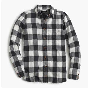 J.CREW boy shirt buffalo check flannel top